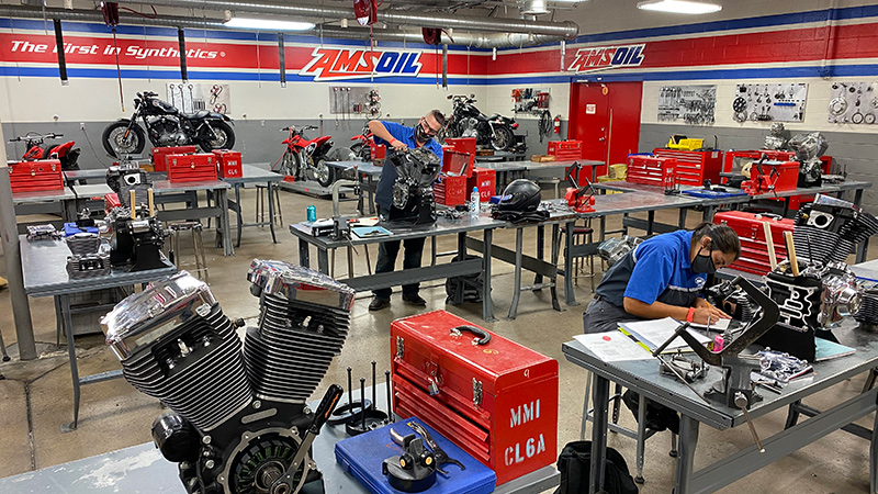 AMSOIL branded classroom in UTI lab
