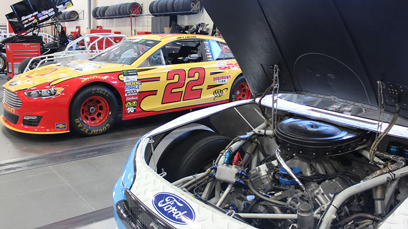 Shell and Icahn branded cars in UTI lab