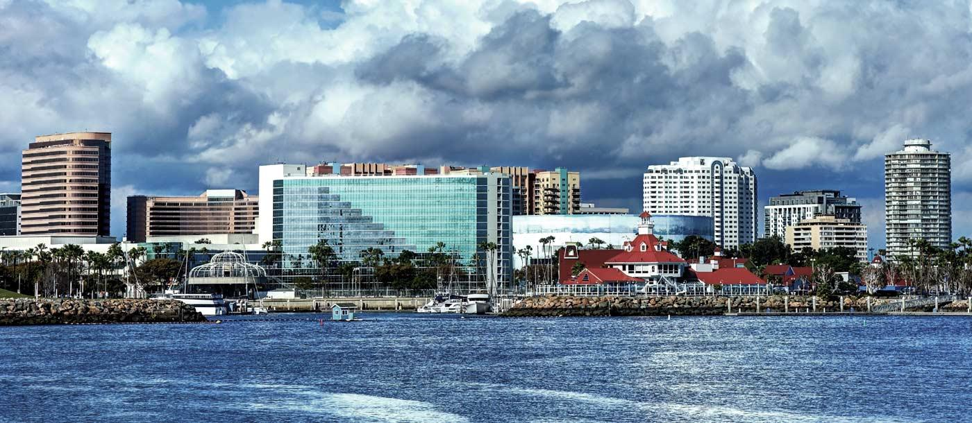 The skyline of Long Beach California which is home to UTI Long Beach