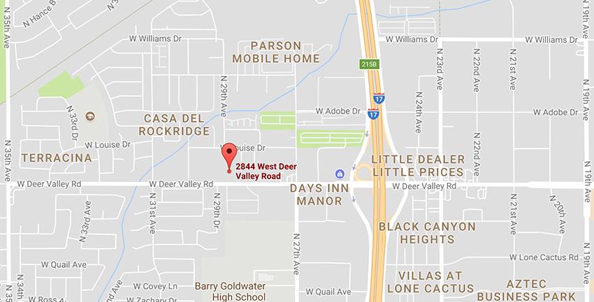 MMI Phoenix motorcycle campus location on google maps