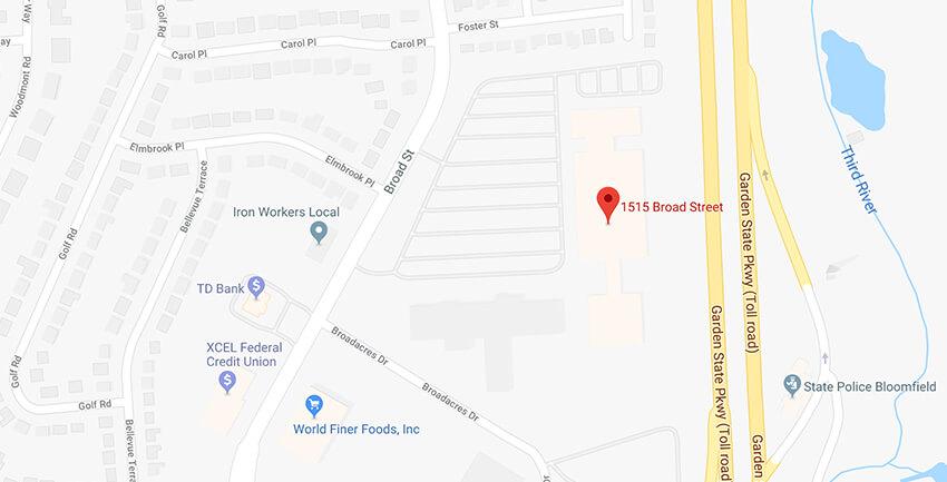 UTI Bloomfield, NJ campus location on google maps