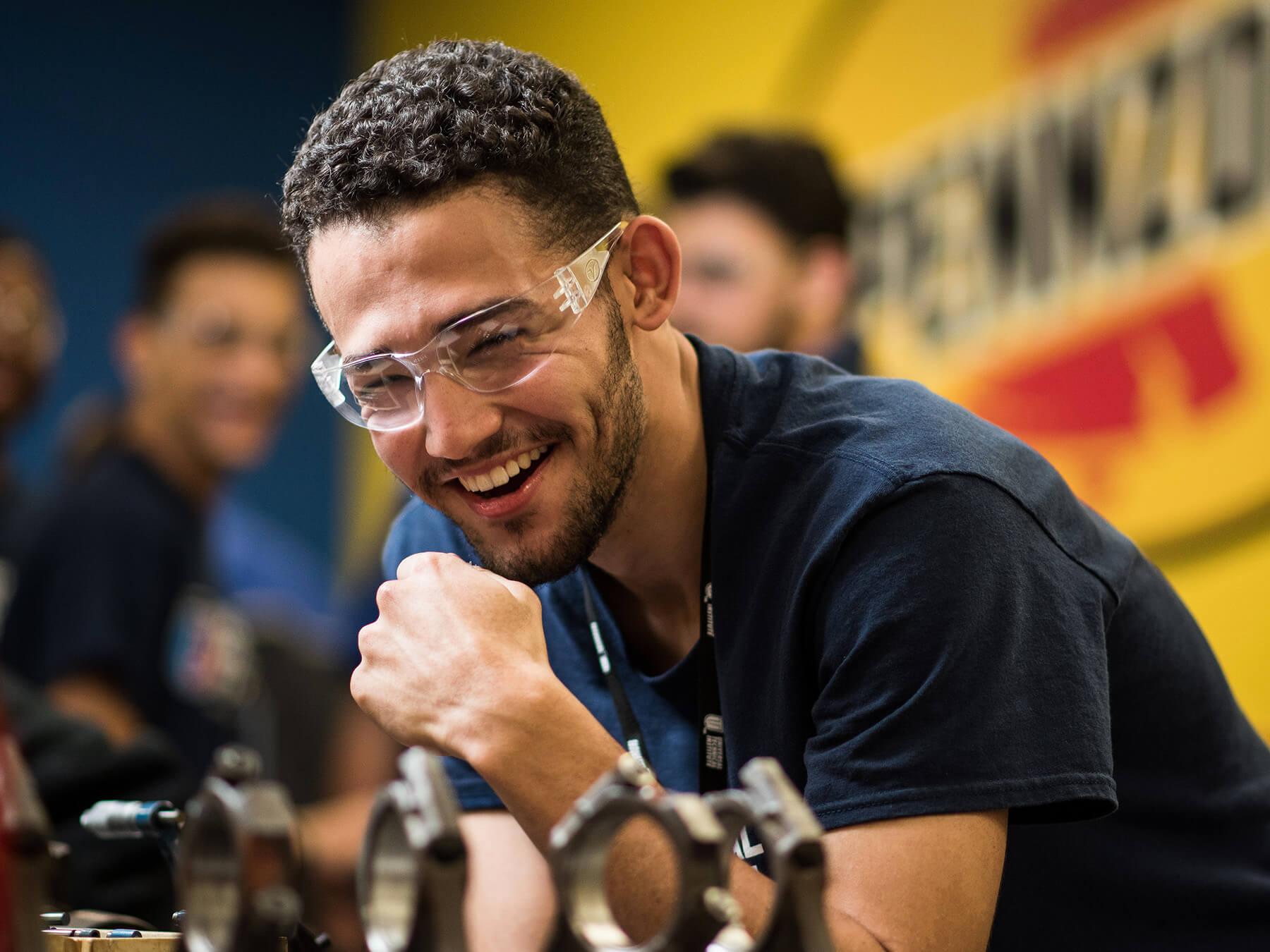 UTI student smiling