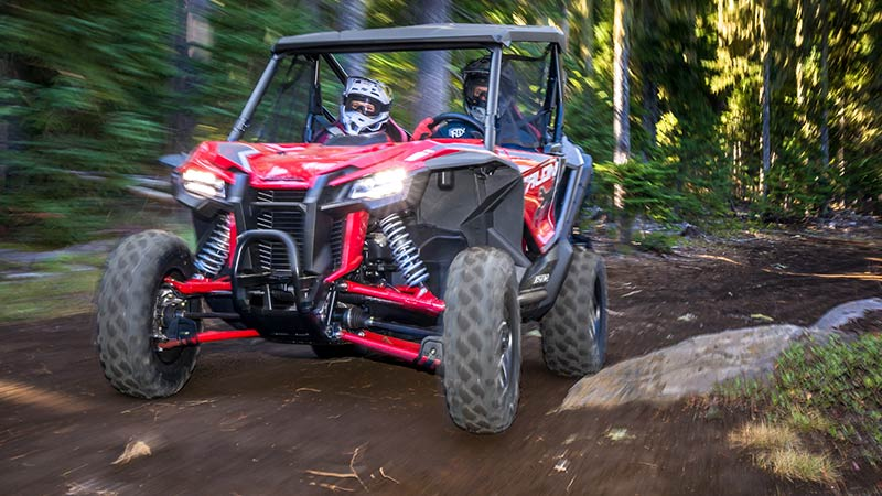 2020 Honda Talon 1000X riding on the trails
