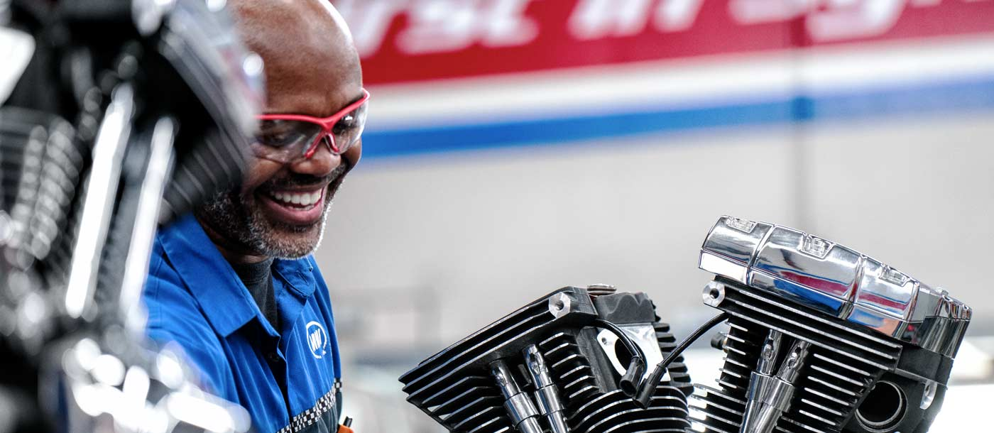 Traits of a motorcycle technician student at UTI motorcycle technology program