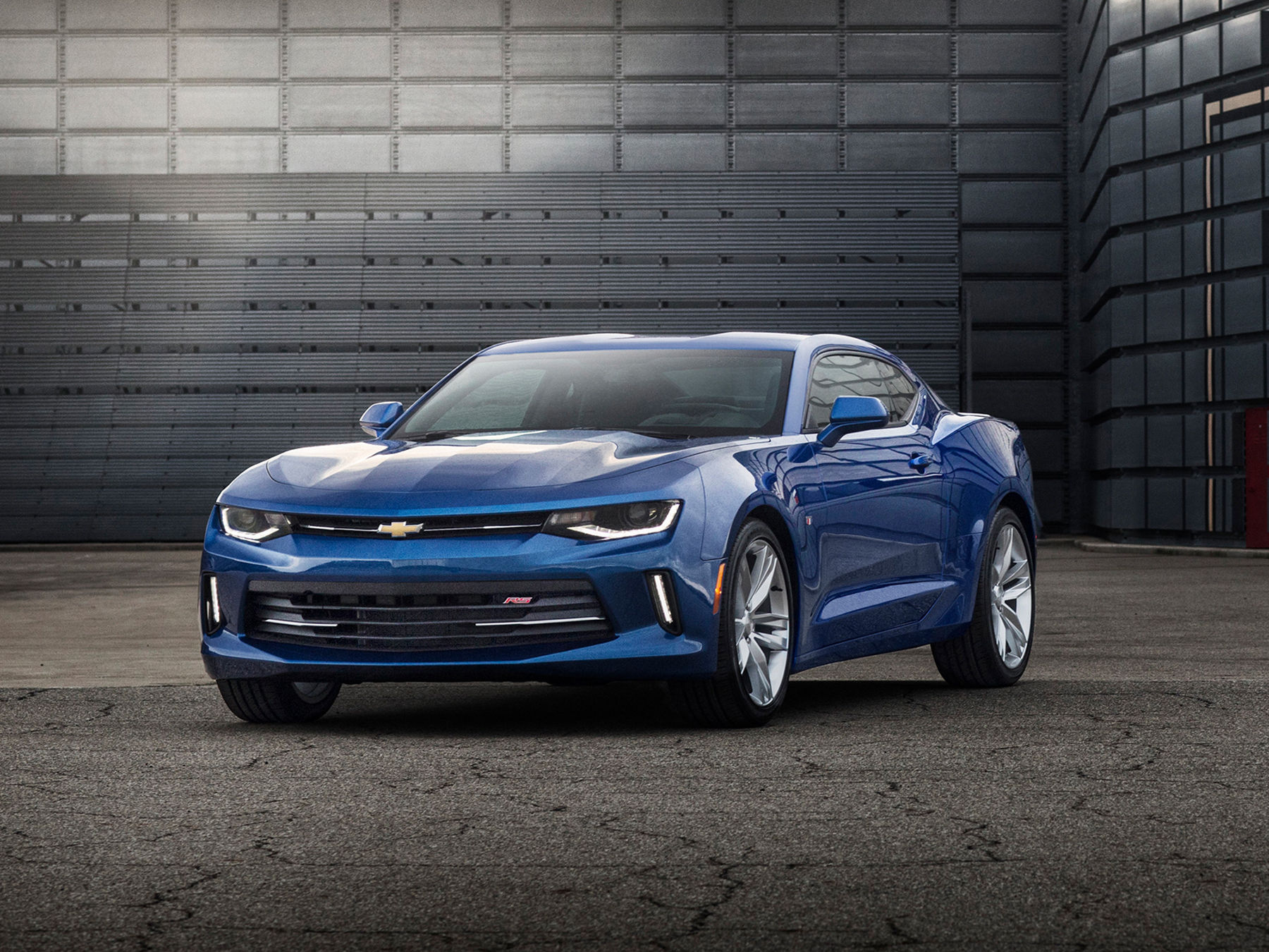 Blue chevy Camaro