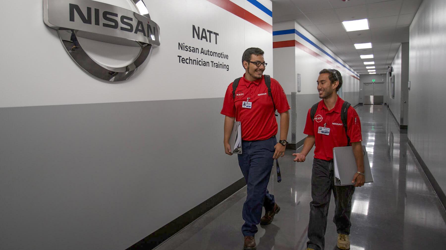 Specialized Training_4x3_Nissan_Student Walking in Hallway