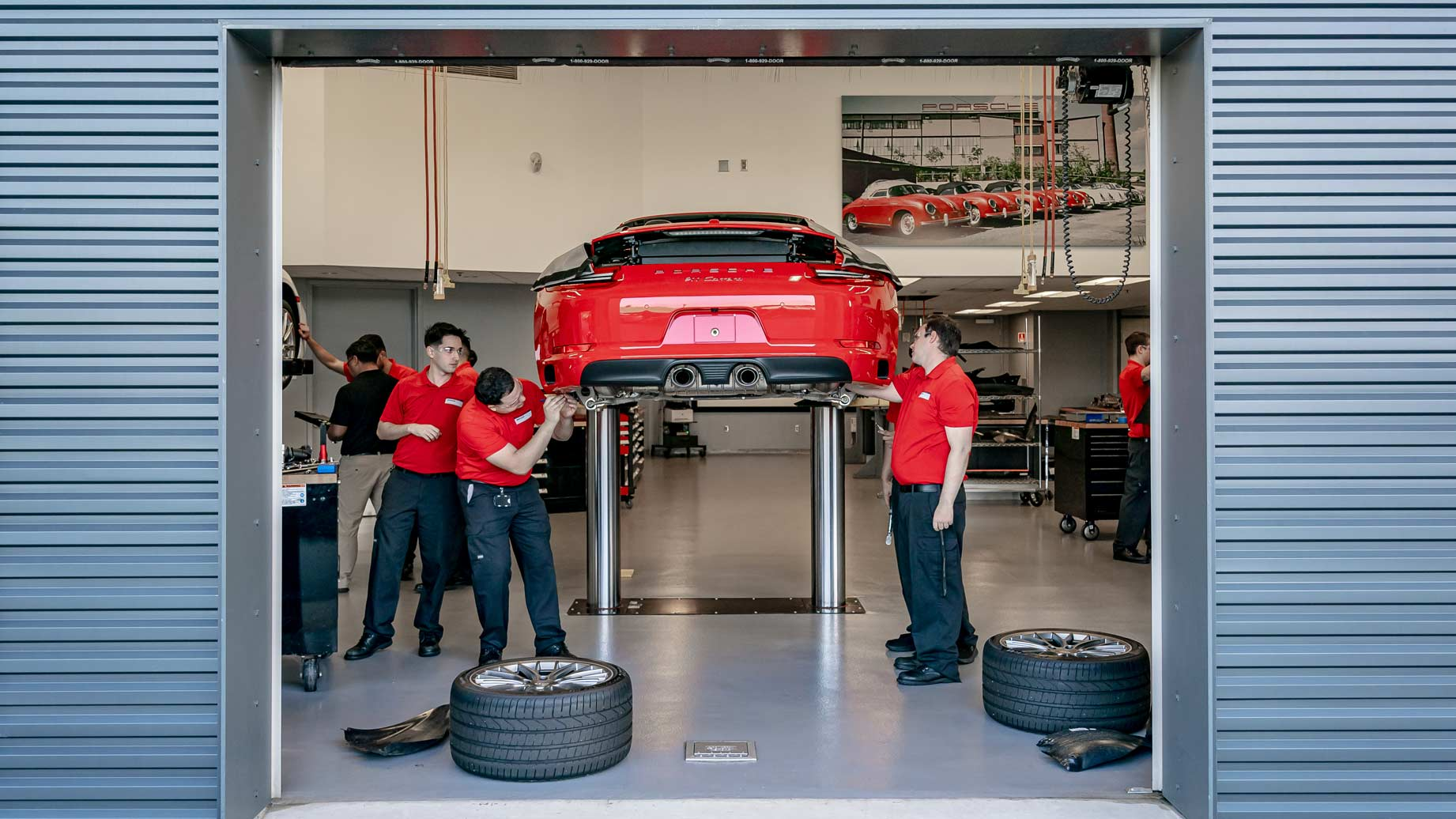 Porsche students at Universal Technical Institute specialized training program