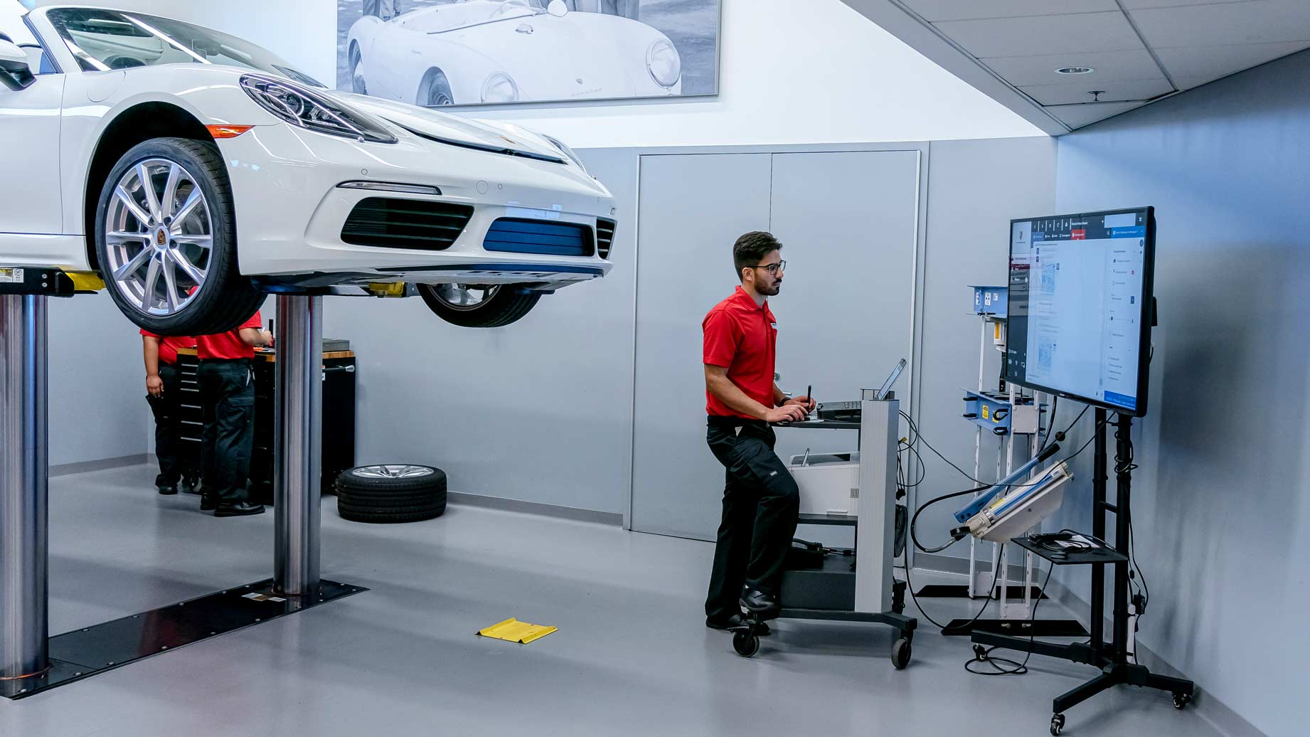 Porsche student at Universal Technical Institute specialized training program