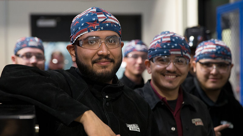 UTI Welding School Students