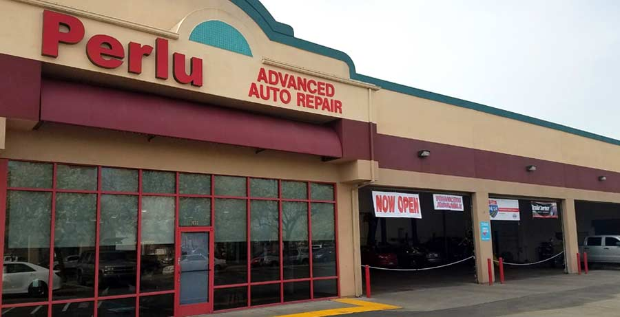 Perlu Advanced Auto Repair exterior opened by UTI Avondale graduate Richard Perez