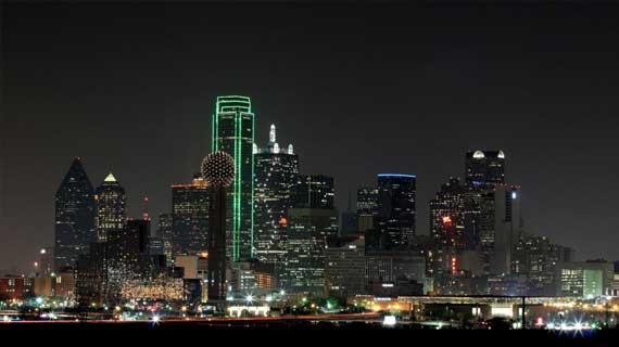 Dallas / Ft. Worth skyline view of the city