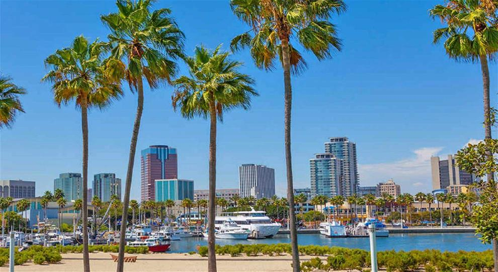 Beautiful views at Long Beach, California
