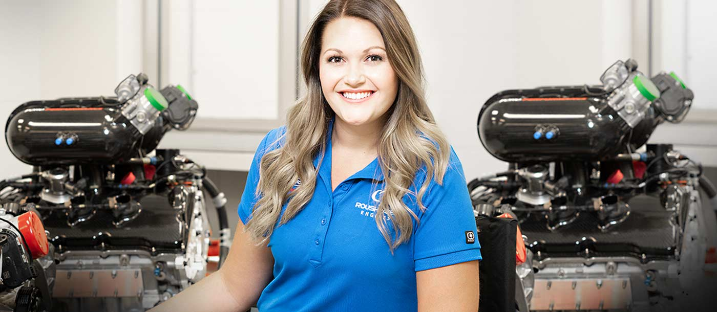 NASCAR Technical Institute graduate Madison Conrad shares how she used her education to pursue a career with Roush Yates Engines